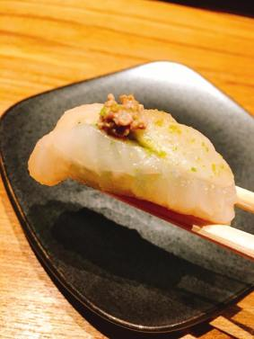 Live Ikejime halibut with own liver