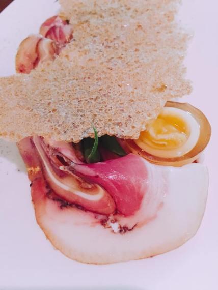 Smoked tea egg (quail)