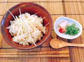Rice dish: Rice cooked with clams