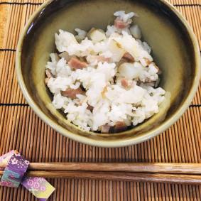 Rice dish: Rice with sunchoke and pork