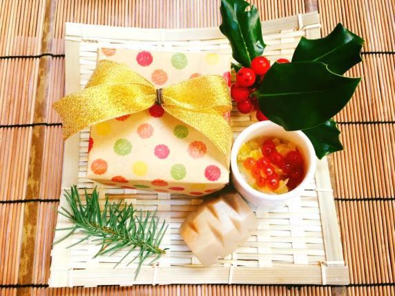 Assortment of Appetizer: Chirashi sushi, Pinecone shaped taro