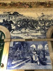 Top: Battle of Valdevez Bottom: Egas Moniz presenting himself to Alfonso VII of Castile at Porto