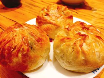 Pastry stuffed with mushrooms and minced pork